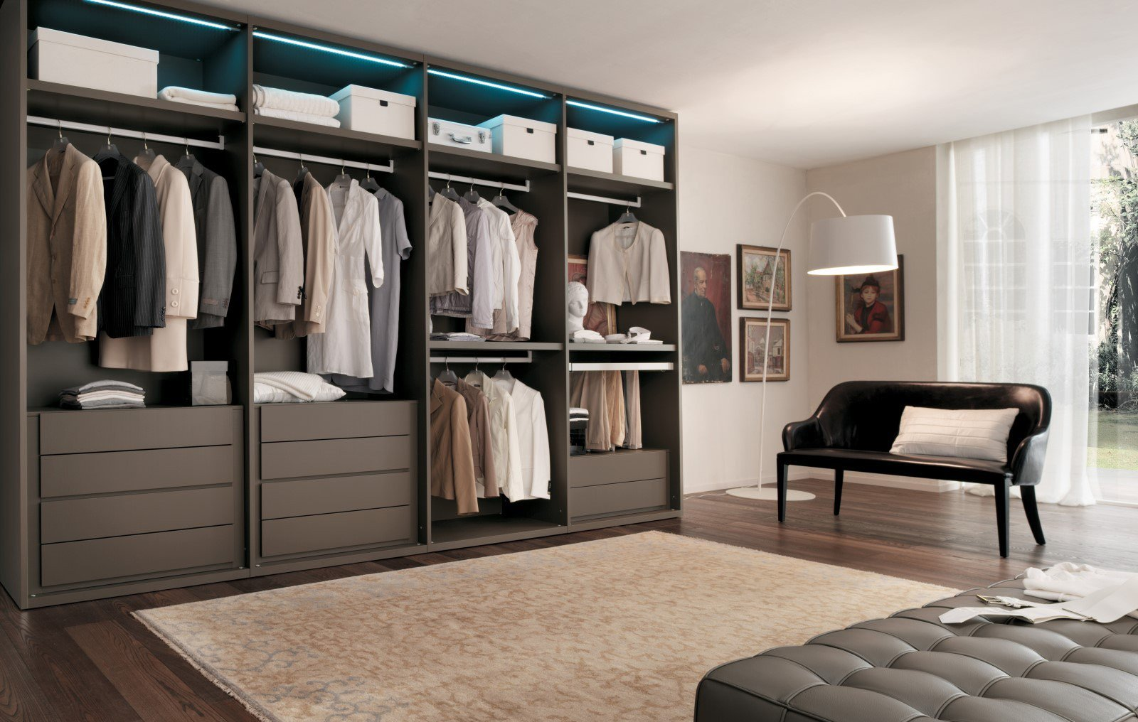 Walk In Wardrobes Including Drawers Shelves Hanging Fully Installed